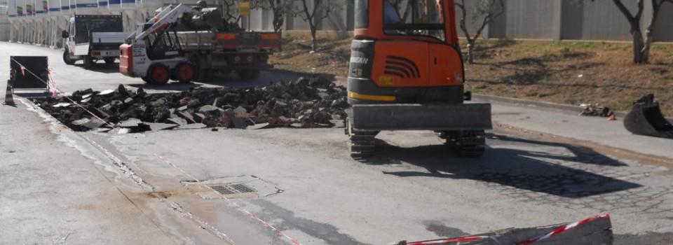 Rifacimento fondo stradale con inerte di cava, Fassa Bortolo, Bitonto